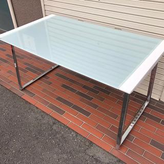 ■ガラステーブル ダイニングテーブル デザイン ホワイト 強化ガラス - 東大阪市