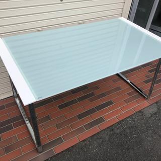 ■ガラステーブル ダイニングテーブル デザイン ホワイト …