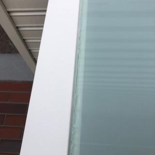 ■ガラステーブル ダイニングテーブル デザイン ホワイト 強化ガラス − 大阪府