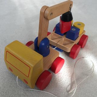 〜お取引き完了〜 IKEA 木製 クレーン車★欠品あり