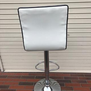 美品■ニトリ カウンターチェア レザー ホワイト 上下調整可能 イス 椅子 - 家具
