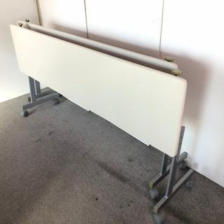 S24 ホワイト スタッキングテーブル 事務机 2台セット