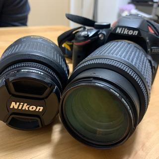 【値下げ】Nikon入門機 Ꭰ3200 ダブルズームキット