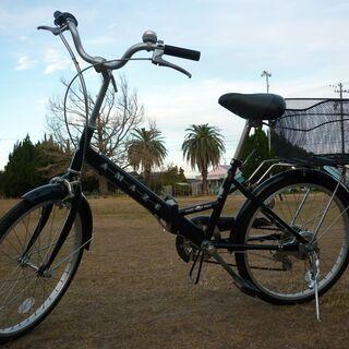 ◆良品◆折りたたみ自転車◆ 6段変速シマノ 後ろかご付 2…