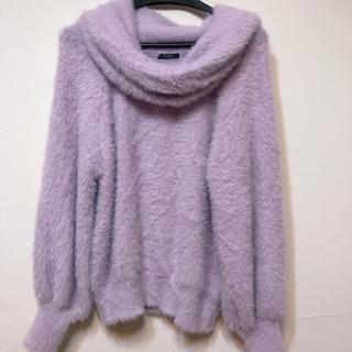 ✽ラベンダー色 ふわもこネックセーター Newlyme  Mサイズ