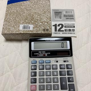 CITIZEN シチズン 12桁表示 電卓 計算機