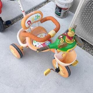 プーさん 三輪車 ボロ