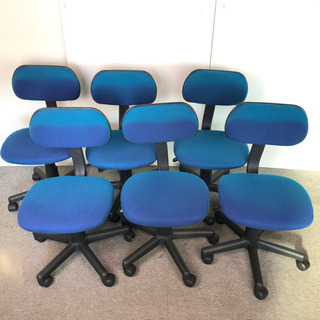 S59 事務用 回転椅子 事務椅子 ※ひやけあり 6脚セット