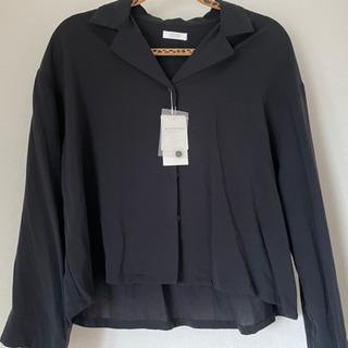 新品タグ付き(4500円)☆黒 長袖 ブラウス Lサイズ
