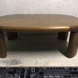 木製 ローテーブル 座卓 ちゃぶ台 頑丈 重量あり 幅12…