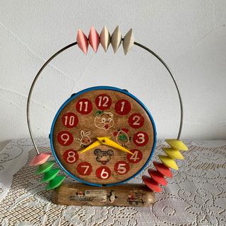 知育玩具 時計 数字 昭和レトロ