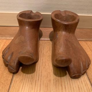 木彫りの置物差し上げます。足形