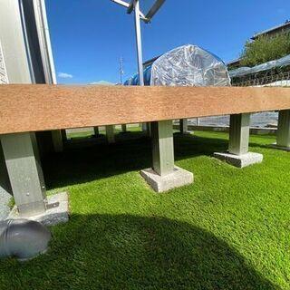 お庭、ベランダに人工芝を施工いたします!