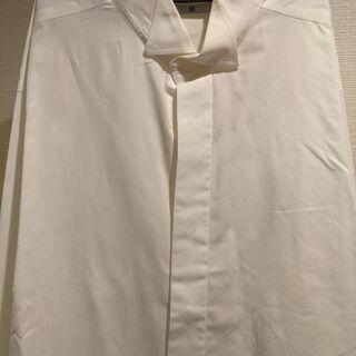 【ネット決済】ウイングカラーシャツ(蝶ネクタイ用シャツ:白)