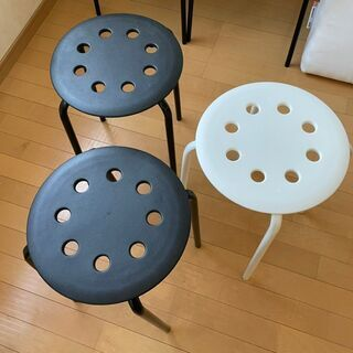シンプル 丸椅子 IKEA MARIUS 2つセット