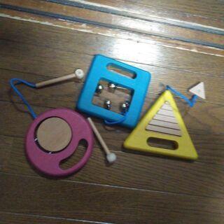 【ネット決済・配送可】gg* ジジ 木のおもちゃ 楽器