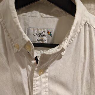 【ネット決済・配送可】アーノルドパーマー 七分袖白シャツ