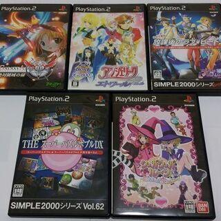 【中古PS2ソフト5本セット】『スーパーパズルボブルDX』『シュ...