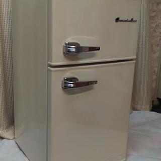 小型冷蔵庫 Grand-Line 2ドア レトロ冷凍/冷蔵庫 8...