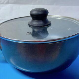 [中古鍋・フライパン]  両手鍋⑤ 約20センチ 深め 深さ約8...