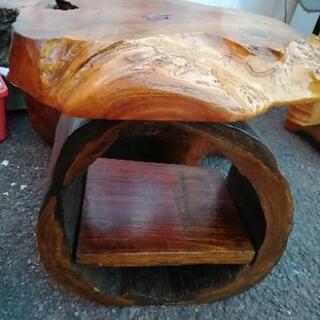 電話台 台座 棚 置物 飾り 木製 工芸品 木工