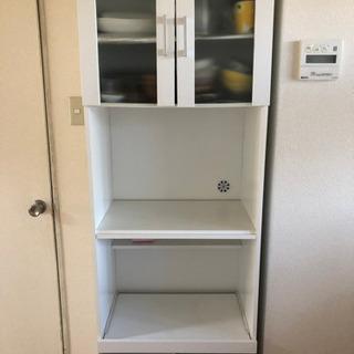 食器棚 ホワイトの画像