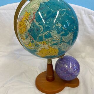 帝国書院製 地球儀 天球儀付き