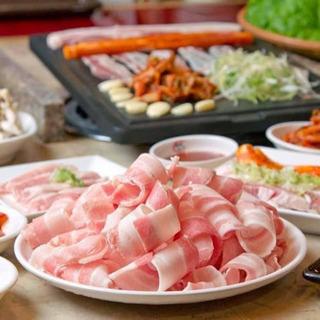 野菜を食べる韓国焼肉❗️サムギョプサル