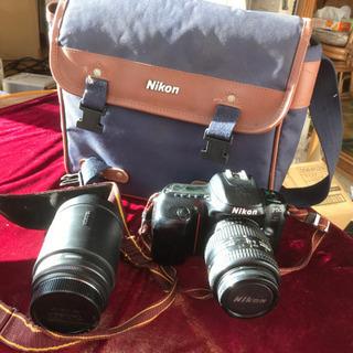 Nikon F50フィルムカメラ二本レンズ付き