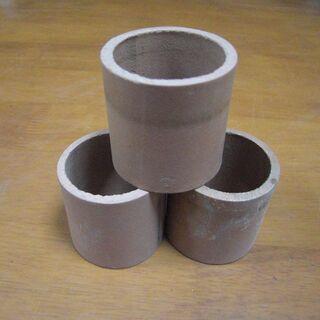 シンプルなテラコッタの土管(3つ)