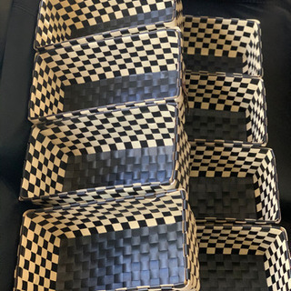 ソフトビニール 市松模様のカゴ 8個