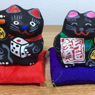 【郷土玩具22】猫の人形 招き猫(小) 春日部張り子 左手招き ...