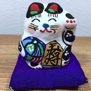 【郷土玩具28】猫の人形 招き猫(小) 春日部張り子 左手招き ...