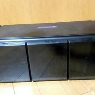 中古CDラック24個収納可ブラックカラー
