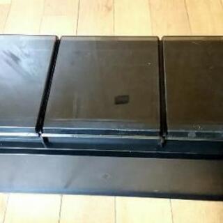 中古CDラック24個収納可ブラックカラー - 家具