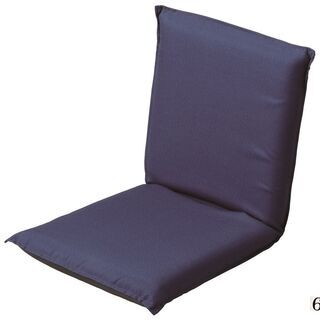 【ネット決済】コンパクト座椅子 ネイビー