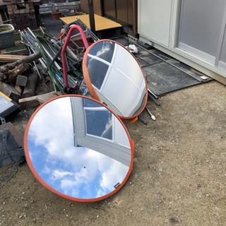 【ネット決済・配送可】中古のカーブミラー