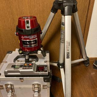 タジマ レーザー墨出し器 受光器、三脚セット
