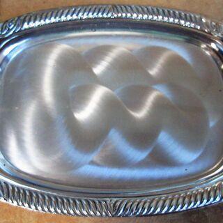 ☆東洋テーブルウェア TOYO TABLE WARE 銀 プレート5枚セット フォーク付き◆銀の輝きがテーブルを美しく飾る - 生活雑貨