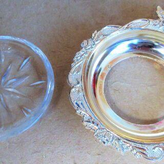 ☆東洋テーブルウェア TOYO TABLE WARE 銀 プレート5枚セット フォーク付き◆銀の輝きがテーブルを美しく飾る - 売ります・あげます