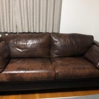 イギリス家具 70B購入商品 レザーソファー2点セット