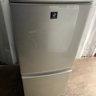 【重】S1017-11 SHARP 137L 2ドア冷蔵庫 20...