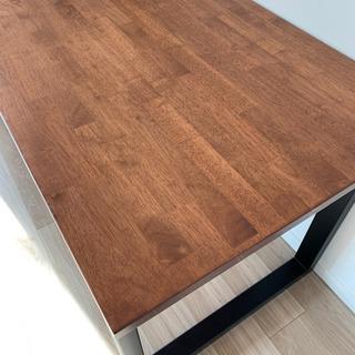【極美品】かなでもの テーブル デスク 在宅 テレワーク リビング学習 - 家具