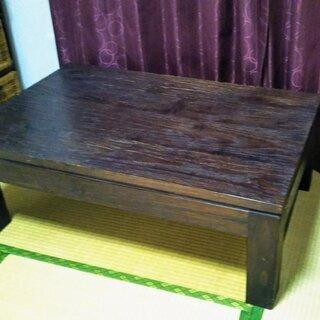 木製ローテーブル【無料の画像