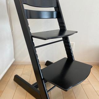ストッケstokkeトリップトラップ黒ブラック北欧家具子供用チェア椅子 - 春日井市