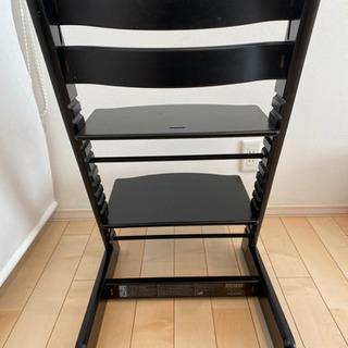 ストッケstokkeトリップトラップ黒ブラック北欧家具子供用チェア椅子 - 子供用品