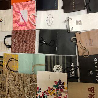 不織布エコバック5枚 & 使用済の紙袋50枚(小~中サイズ…