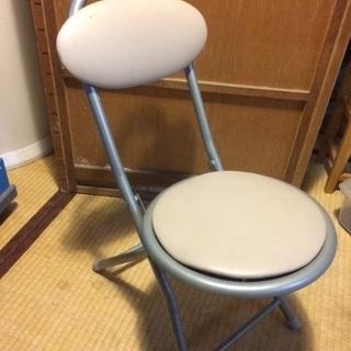 折りたたみ椅子 スツール パイプ クッション性あり