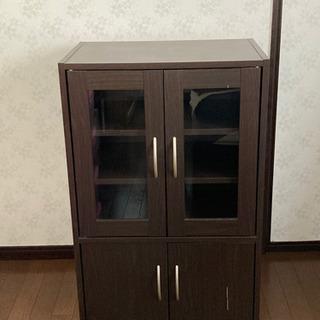 ニトリ 食器棚 ブラウン
