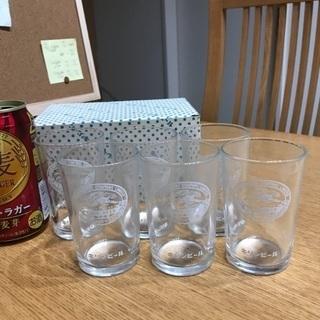 214、キリンビールコップ 6点セット